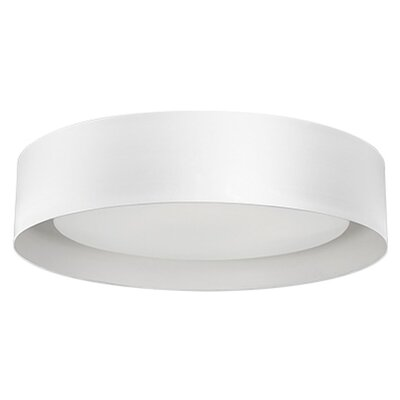 Heather 1-Light Flush Mount Base Finish: White