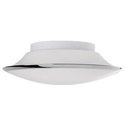 Heather 1-Light Flush Mount Size: 3.5 H x 9.8 W x 9.8 D