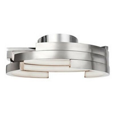 Heather 1-Light Flush Mount Finish: Brushed Nickel, Size: 6.25 H x 21.6 W x 21.6 D