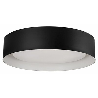 Heather 1-Light Flush Mount Base Finish: Black