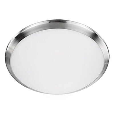 Heather 1-Light Flush Mount Base Finish: Brushed Nickel, Size: 3.13 H x 12 W x 12 D