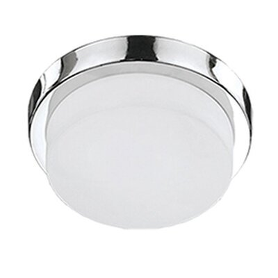 Heather 1-Light Flush Mount Base Finish: Chrome, Size: 3.38 H x 9 W x 9 D