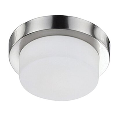 Heather 1-Light Flush Mount Base Finish: Brushed Nickel, Size: 3.38 H x 11 W x 11 D