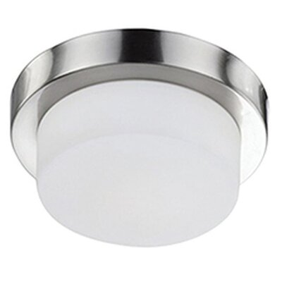 Heather 1-Light Flush Mount Base Finish: Brushed Nickel, Size: 3.38 H x 9 W x 9 D