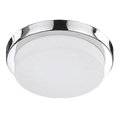 Heather 1-Light Flush Mount Base Finish: Chrome, Size: 3.75 H x 13 W x 13 D