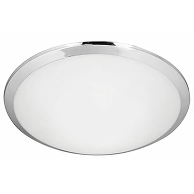 Heather 1-Light Flush Mount Base Finish: Chrome, Size: 3.38 H x 15 W x 15 D