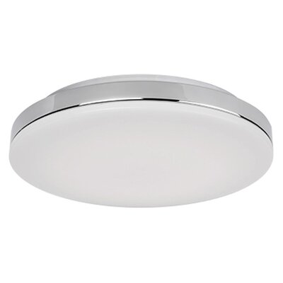 Heather 1-Light Flush Mount Base Finish: Chrome