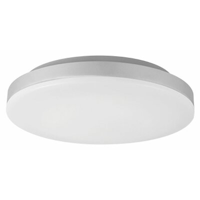 Heather 1-Light Flush Mount Base Finish: Silver