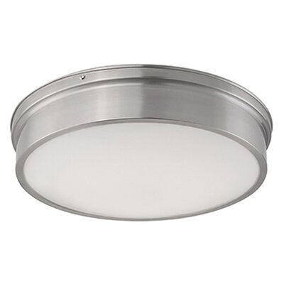 Heather 1-Light Flush Mount Size: 4 H x 16.75 W x 16.75 D
