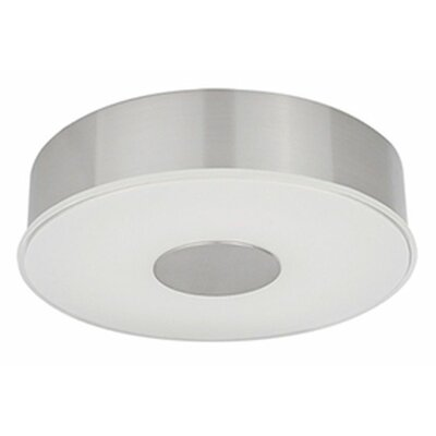 Heather 1-Light Flush Mount Size: 2.5 H x 9.75 W x 9.75 D