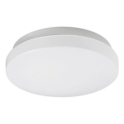 Heather 1-Light Flush Mount Base Finish: Silver, Size: 3.5 H x 14 W x 14 D