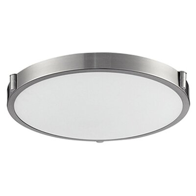 Stephanie 1-Light Flush Mount Size: 3.13 H x 17 W x 17 D