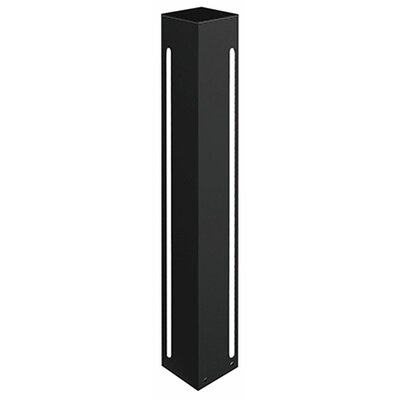 Frannie 1-Light Exterior Bollard Finish: Black, Size: 36 H x 4 W x 4 D