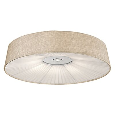 Heather 1-Light Flush Mount Base Finish: Cream, Size: 6 H x 20 W x 20 D