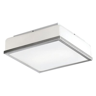 Heather 1-Light Flush Mount Base Finish: Brushed Nickel, Size: 4 H x 8.5 W x 8.5 D