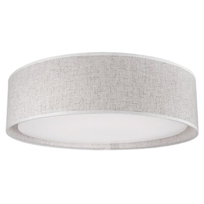 Heather 1-Light Flush Mount Base Finish: Beige, Size: 4.13 H x 20 W x 20 D
