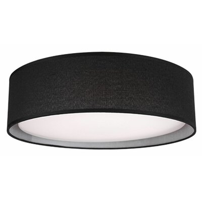 Heather 1-Light Flush Mount Base Finish: Gray, Size: 4.13 H x 20 W x 20 D
