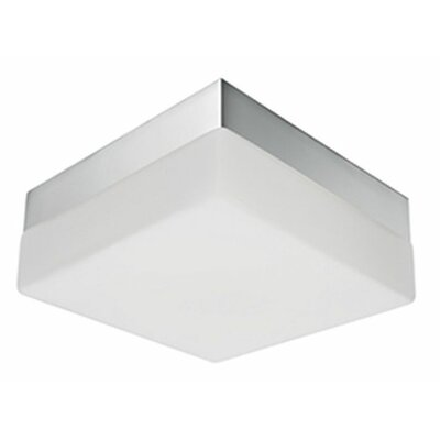 Heather 1-Light Flush Mount Base Finish: Gray, Size: 2.75 H x 9 W x 9 D
