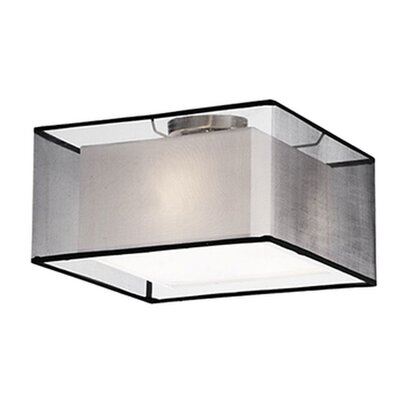 Hailey 2-Light Semi Flush Mount Shade Color: Black
