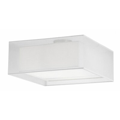 Hailey 3-Light Semi Flush Mount Shade Color: White