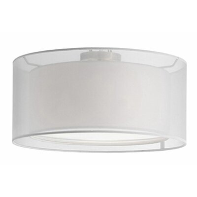 Hailey 2-Light Semi Flush Mount Shade Color: White