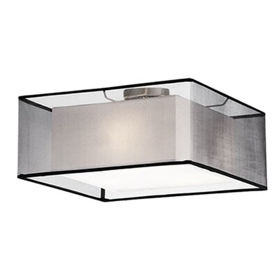 Hailey 3-Light Semi Flush Mount Shade Color: Black