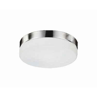 Heather 1-Light Flush Mount Base Finish: Brushed Nickel, Size: 3.5 H x 11 W x 11 D
