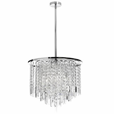 Cubix 8-Light Crystal Chandelier