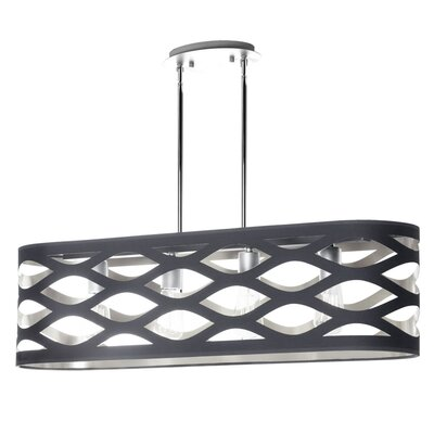 Countess 4-Light Kitchen Island Pendant Finish: Black/Silver