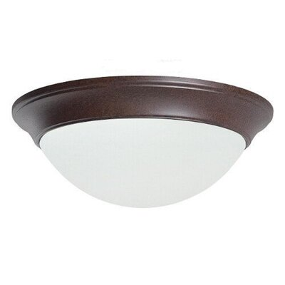 Monterey 1-Light Flush Mount Finish: Dark Brass