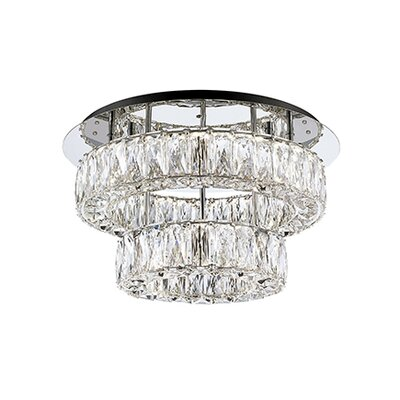Spectrum Semi Flush Mount Size: 9.9 H x 17.7 W x 17.7 D