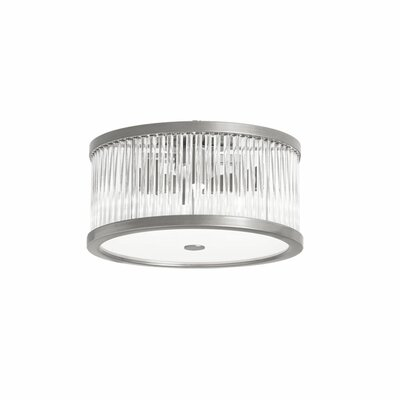 Greffen 4-Light Flush Mount Finish: Satin Chrome