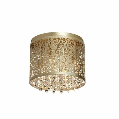 Siley 4-Light Flush Mount Finish: Palladium Gold