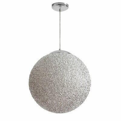 Bolla 2-Light Pendant Shade Color: Chrome