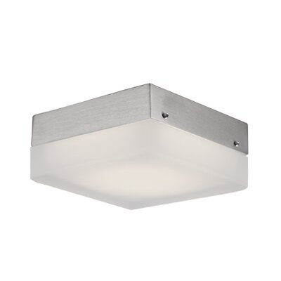 Heather 1-Light Flush Mount Size: 2.25 H x 9 W x 9 D