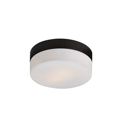 Stephanie 1-Light Flush Mount Base Finish: Bronze