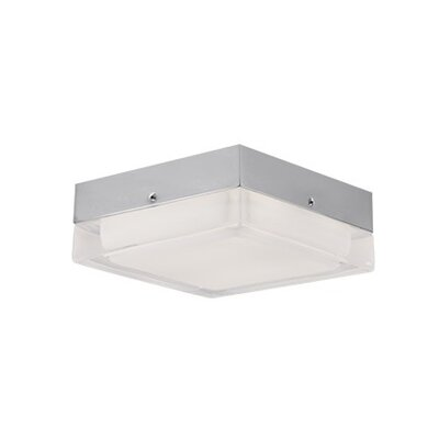 Heather 1-Light Flush Mount Size: 2.25 H x 5.25 W x 5.25 D