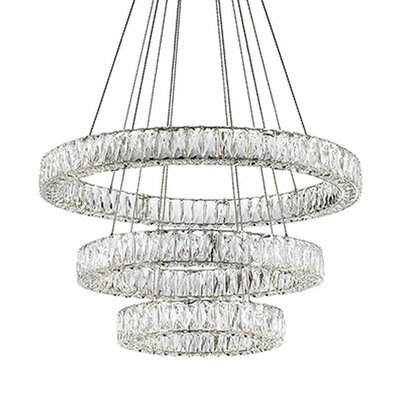 Spectrum 3-Light LED Crystal Chandelier
