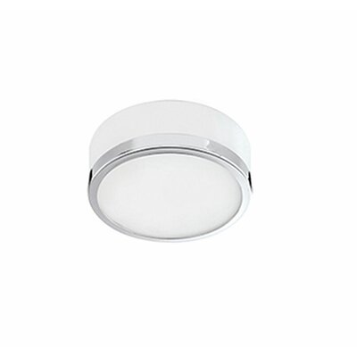 Heather 1-Light Flush Mount Base Finish: Chrome, Size: 3 H x 8 W x 8 D