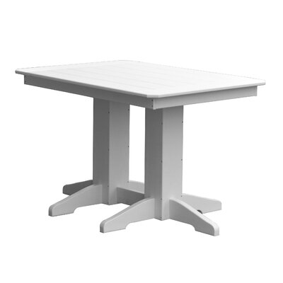 Newport Dining Table Size: 32 H x 33 W x 72 D, Finish: Red
