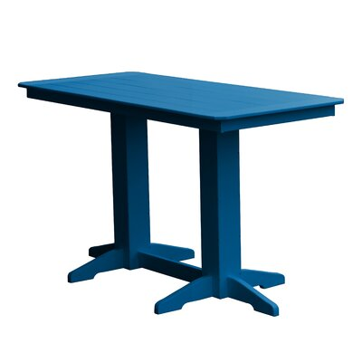Newport Bar Table Finish: Blue
