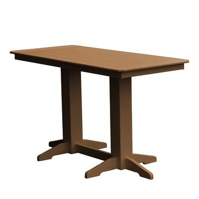 Newport Bar Table Finish: Cedar