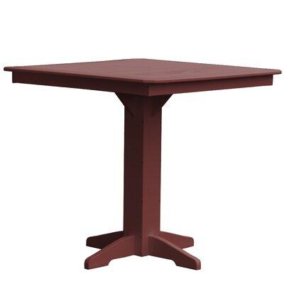 Newport Bar Table Finish: Cherry Wood