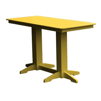 Newport Bar Table Finish: Yellow