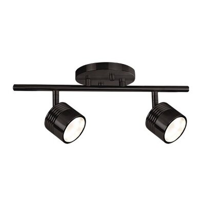 Monica 2-Light Monopoint Track Lighting Finish: Black