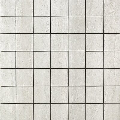 Travertini Porcelain Mosaic Tile in Grey