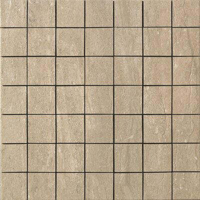 Travertini Porcelain Mosaic Tile in Walnut