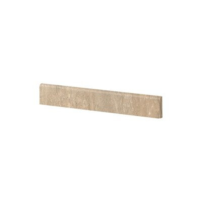 Travertini 3.188 x 16.75 Porcelain Wood Tile in Matte Walnut (Set of 5)