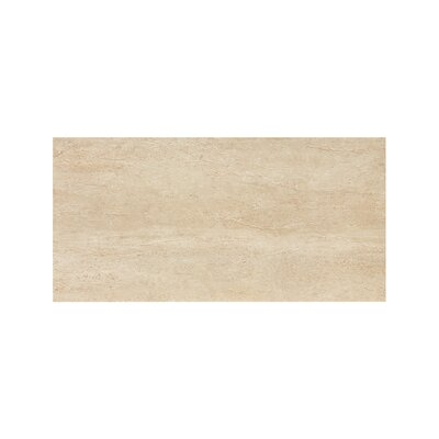 Travertini 12 x 24 Porcelain Field Tile in Polished Cream