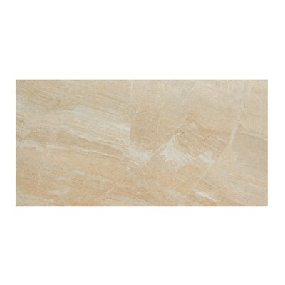 Anthology 12 x 24 Porcelain Field Tile in Polished Beige